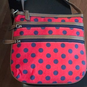 Red & Navy Polka Dot Purse